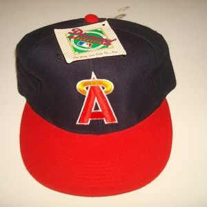 California Angels vint 90s new era cap hat 6 7/8